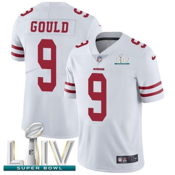 Nike 49ers #9 Robbie Gould White Super Bowl LIV 2020 Men's Stitched NFL Vapor Untouchable Limited Jersey