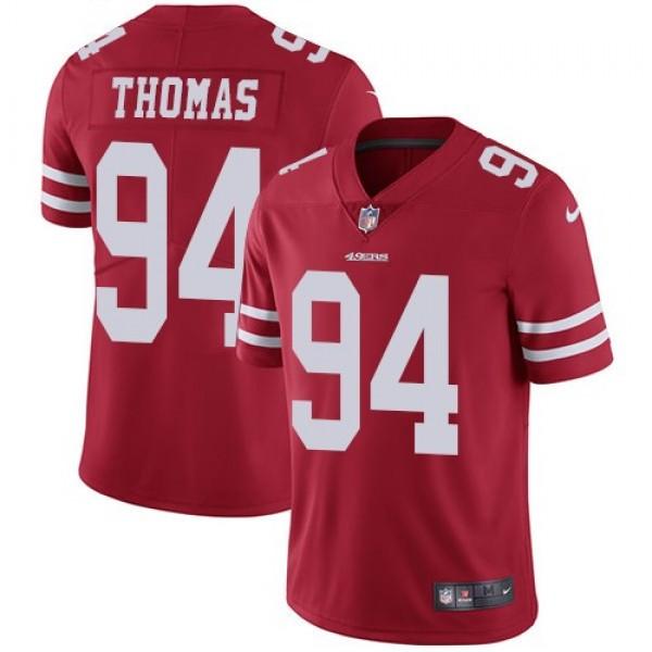Nike 49ers #94 Solomon Thomas Red Team Color Men's Stitched NFL Vapor Untouchable Limited Jersey