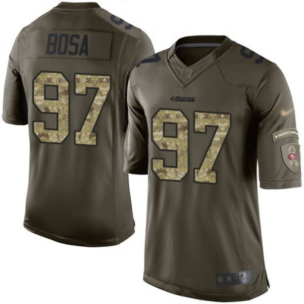 Nike 49ers #97 Nick Bosa Green Men's Stitched NFL Limited 2015 Salute To Service Jersey