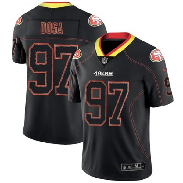 Nike 49ers #97 Nick Bosa Lights Out Black Men's Stitched NFL Limited Rush Jersey