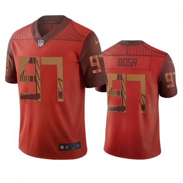 San Francisco 49ers #97 Nick Bosa Orange Vapor Limited City Edition NFL Jersey
