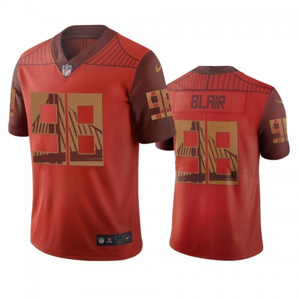 San Francisco 49ers #98 Ronald Blair Orange Vapor Limited City Edition NFL Jersey